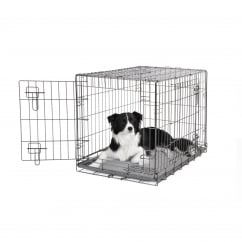 Dogit 2 Door BlackWire Dog Cage - Medium