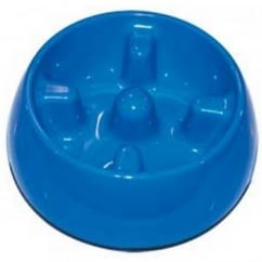 Dogit Anti-gulping Bowl Blue Medium 600ml