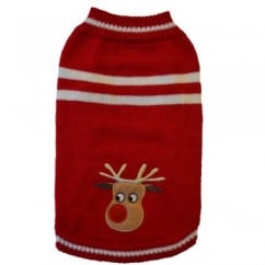 Cosy Christmas Knit Jumper with Reindeer Design 16