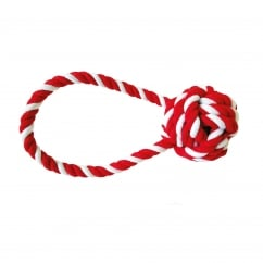 Happy Pet Festive Candy Stripe Tugger Rope Dog Toy