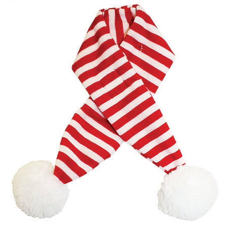 Happy Pet Festive Christmas Candy Stripe Dog Scarf