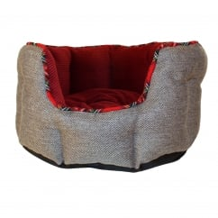 Happy Pet Festive Classic Oval Pet Bed