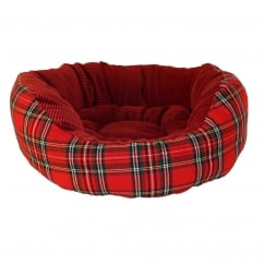 Happy Pet Festive Classic Tartan Donut Dog or Cat Bed 18""