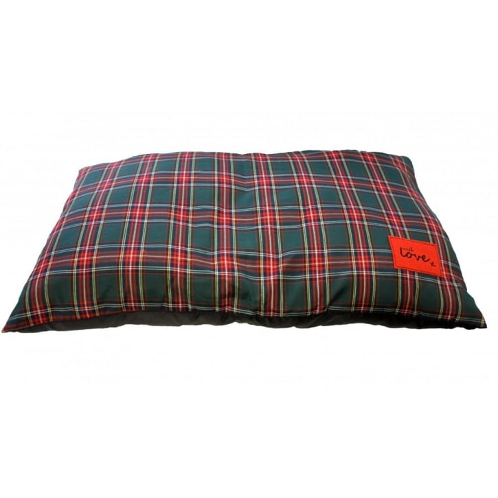 Happy Pet Festive Tartan Cushion - Large