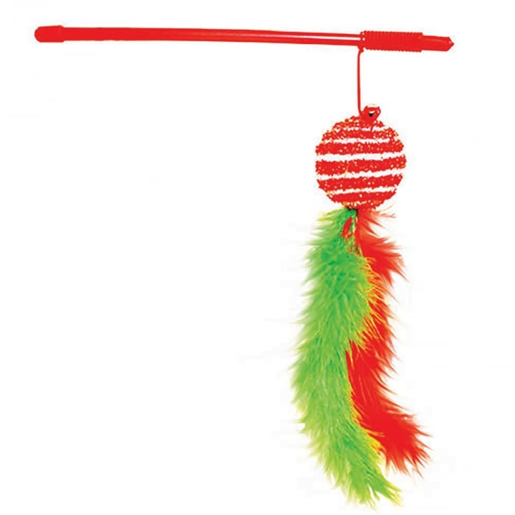 Happy Pet Festive Tinsel Ball Cat Teaser Toy