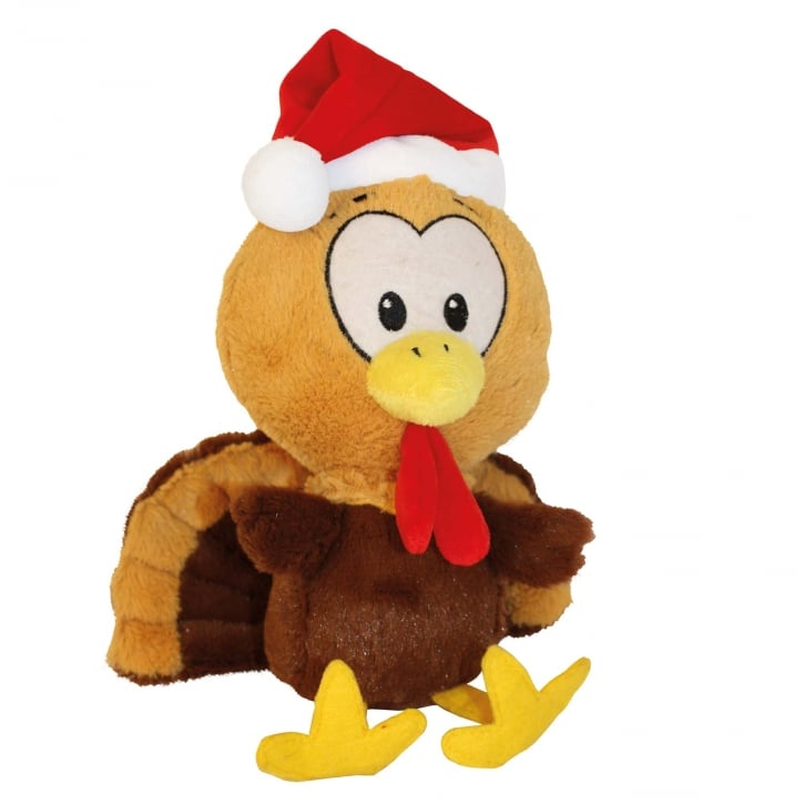Happy Pet Festive Tommy Turkey Soft Plush Dog Toy