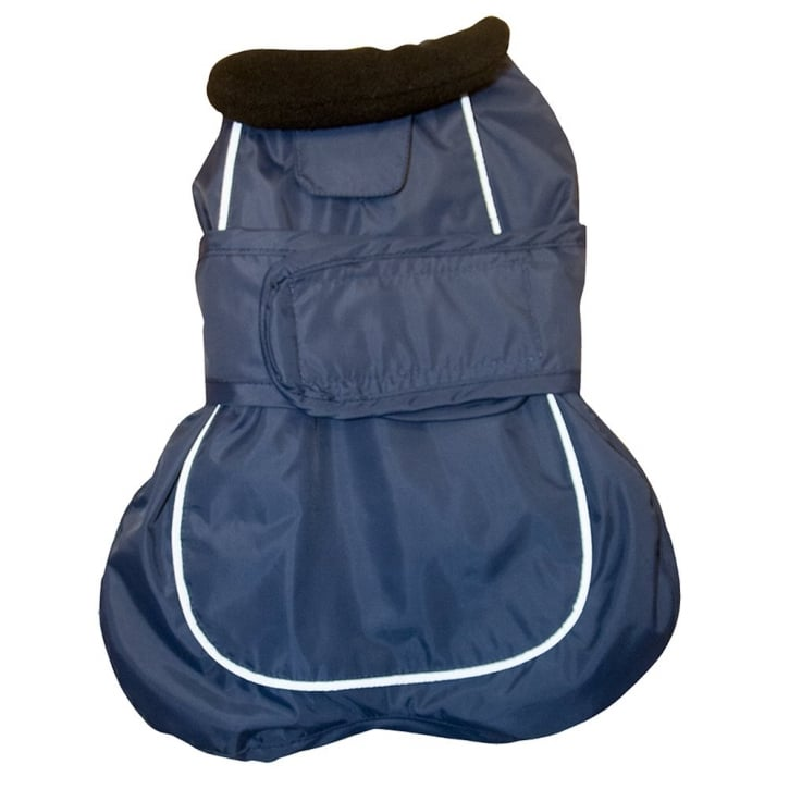 Happy Pet Go Walk 2 in 1 Thermal Dog Coat Navy 14