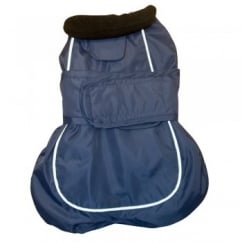 Happy Pet Go Walk 2 in 1 Thermal Dog Coat Navy 14""
