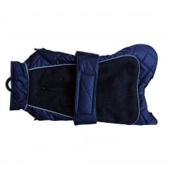 Happy Pet Go Walk Quilted Thermal Water Resistant Dog Coat Navy 14""