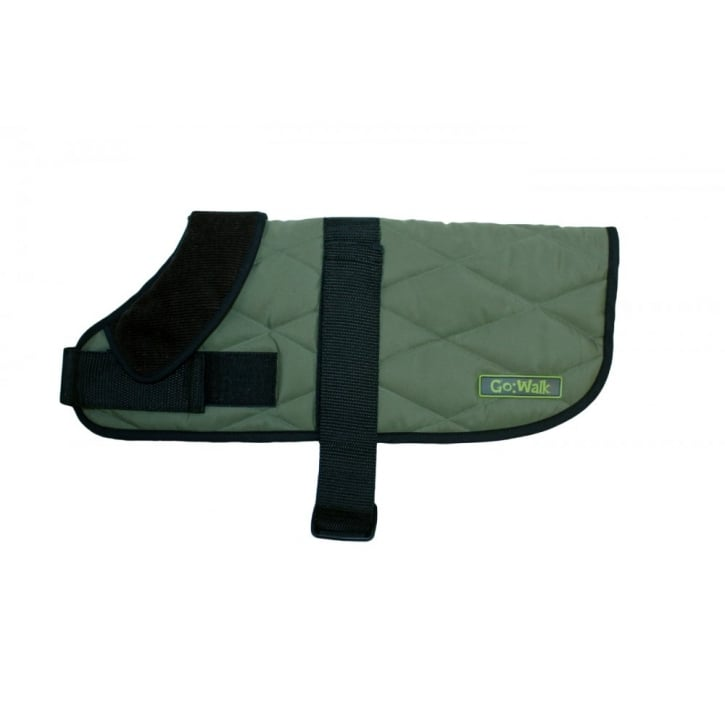 Happy Pet Go Walk Quilted Waterproof Dog Coat Green