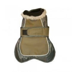 Happy Pet Go Walk Thermal Extreme Dog Coat Olive Green 10""