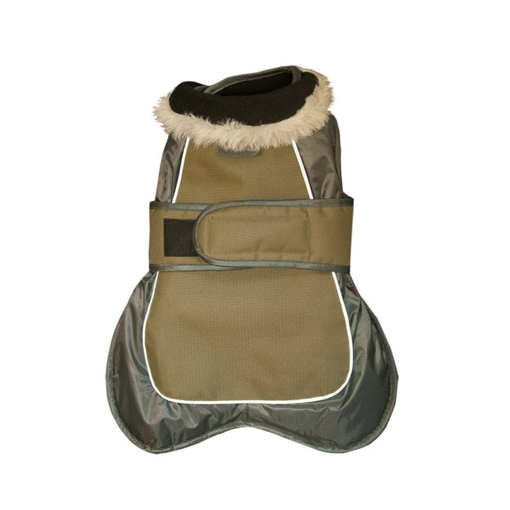 Happy Pet Go Walk Thermal Extreme Dog Coat Olive Green 14