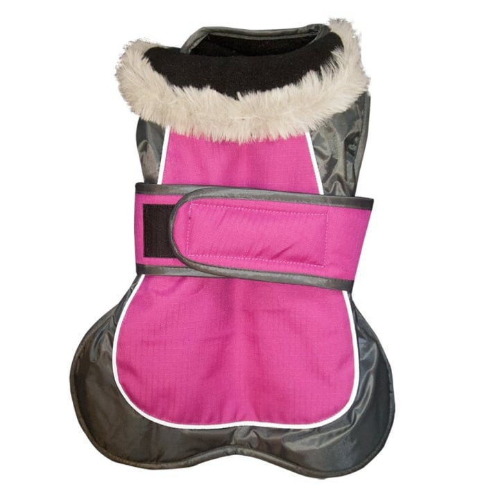 Happy Pet Go Walk Thermal Extreme Dog Coat Raspberry 12