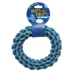 Nuts For Knots Rope Ring Dog Play Toy Small