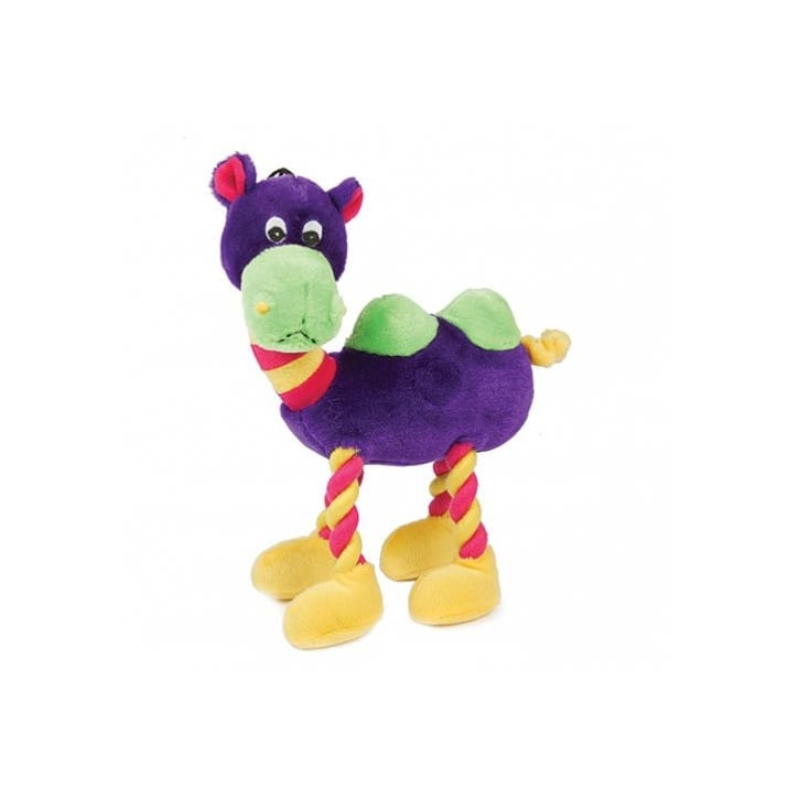 Happy Pet Plush Animal with Rope Legs Purple