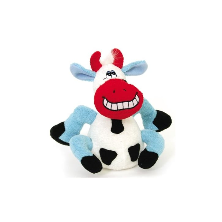 Happy Pet Plush Talking Beamer Cow Dog Play Toy Small