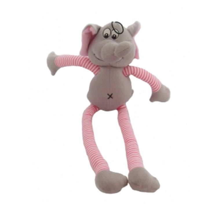Happy Pet Soft Squeaky Pull My Legs Elephant Dog Toy