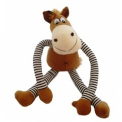 Happy Pet Soft Squeaky Pull My Legs Horse Dog Toy