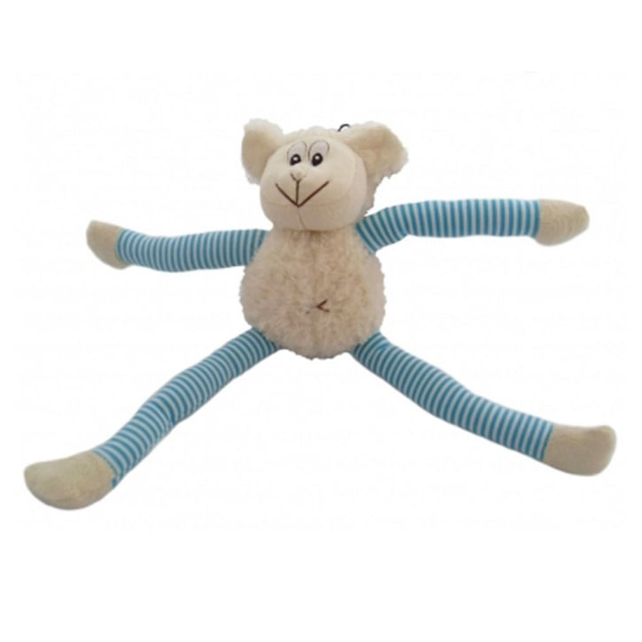 Happy Pet Soft Squeaky Pull My Legs Sheep Dog Toy