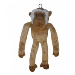 Happy Pet Soft Squeaky Swinger Baboon Dog Toy Small