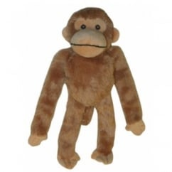Happy Pet Soft Squeaky Swinger Chimp Dog Toy Small
