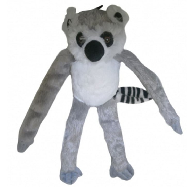 Happy Pet Soft Squeaky Swinger Lemur Dog Toy Regular