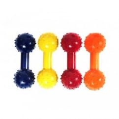 Happy Pet Studded Dumbell & Bell Dog Toy - 4.5""