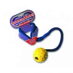 Happy Pet Tough Toys Studded Rope Ball Dog Play Toy 2.5""