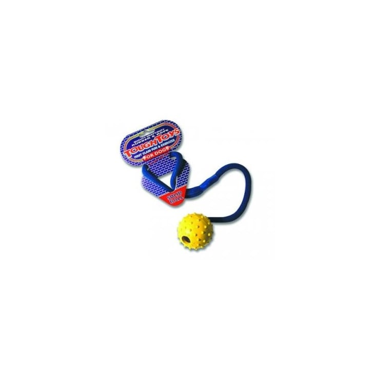 Happy Pet Tough Toys Studded Rope Ball Dog Toy 2.5