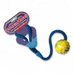 Happy Pet Tough Toys Studded Rope Ball Floater Dog Toy