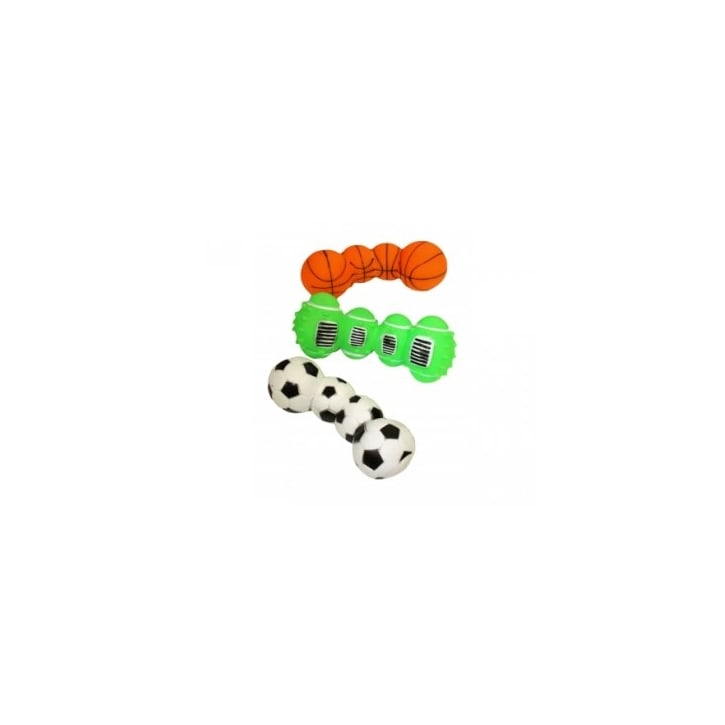 Happy Pet Vinyl Sports Ball Dumbell Dog Toy