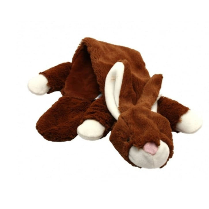 Happy Pet Woodland Animals Unstuffed Rabbit Squeaky Soft Dog Toy