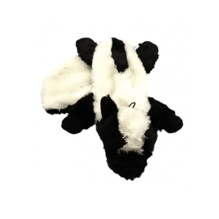 Happy Pet Woodland Animals Unstuffed Skunk Squeaky Soft Dog Toy
