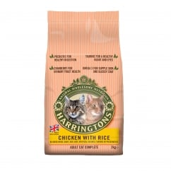 Harringtons Adult Cat Food Complete With Chicken & Rice 2kg