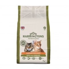 Adult Cat Food Complete With Chicken & Rice 2kg