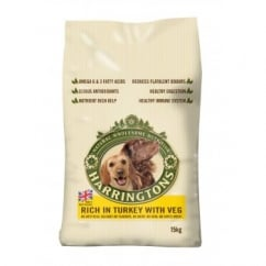 Harringtons Adult Complete Dog Food Turkey & Veg 15kg