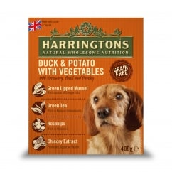 Harringtons Adult Dog Wet Food Duck & Potato With Veg 8 x 400g Pack