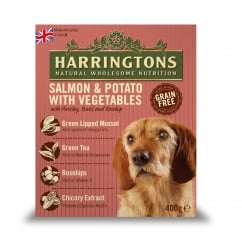 Harringtons Adult Dog Wet Food Salmon & Potato With Veg 8 x 400g Pack