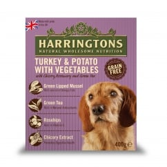 Harringtons Adult Dog Wet Food Turkey & Potato With Veg 8 x 400g Pack