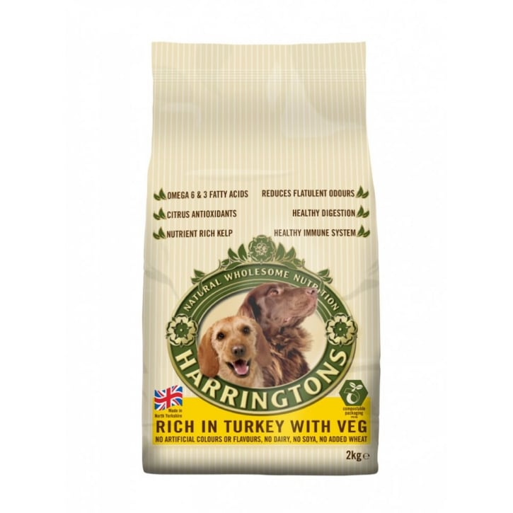 Harringtons Complete Adult Dog Food Turkey & Veg 2kg