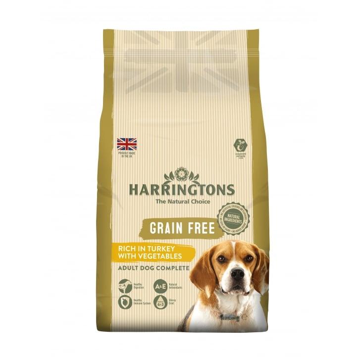 Harringtons Grain Free Adult Dog Food Turkey Veg 15kg Feedem