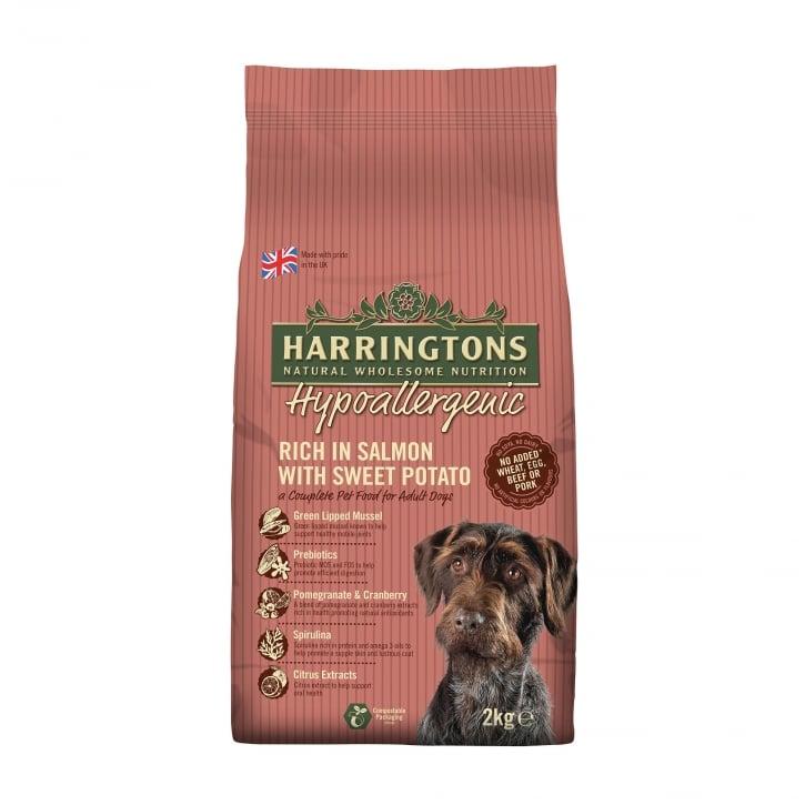 Harringtons Hypoallergenic Dog Food Salmon Sweet Potato 2kg
