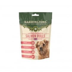 Wholesome Salmon Rolls Dog Treats 160g