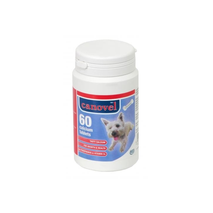 Hatchwells Canavel Calcium Tablets For Dogs & Cats - 60 Tablets