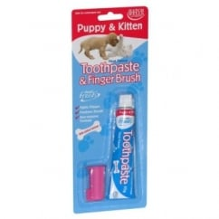 Denti-fresh Puppy & Kitten Toothpaste And Finger Brush