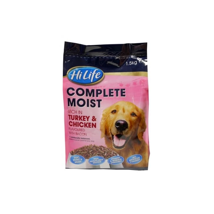 Hi Life Complete Moist Menu For Dogs- Turkey/Chicken & Bacon 1.5kg