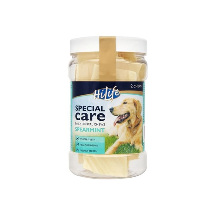 Hi Life Special Care Daily Dental Dog Chew - Spearmint - Pack 12's