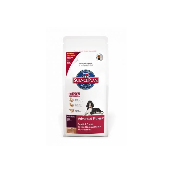 Hills Pet Nutrition Canine Adult Advanced Fitness Lamb & Rice 12kg