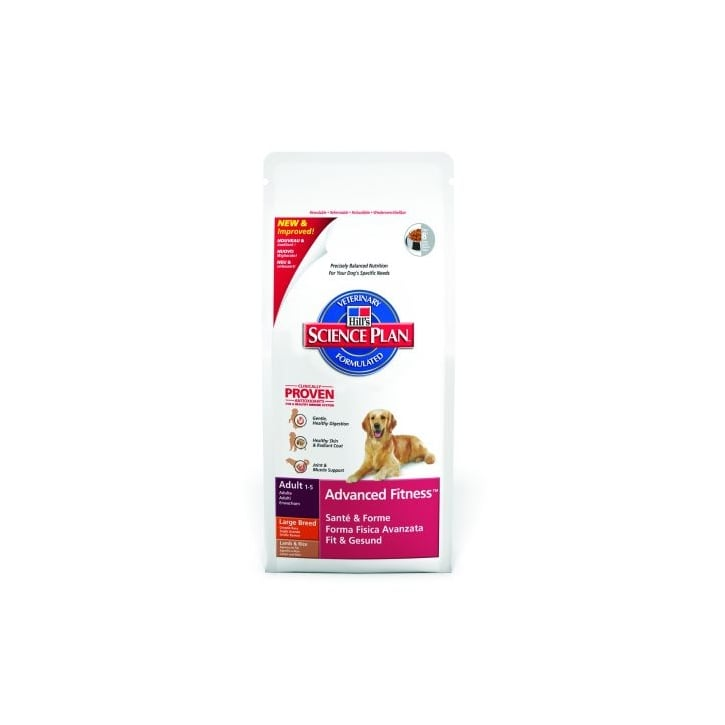 Hills Pet Nutrition Canine Adult Advanced Fitness Large Breed Lamb & Rice 12kg