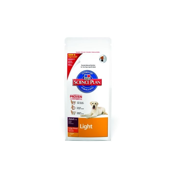 Hills Pet Nutrition Canine Adult Light Large Breed with Chicken 12kg